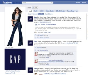 Demonstrating a keen understanding of the value of Facebook in assessing consumers' perceptions of a brand, the retailer recently decided to trash its new logo design after frustrated fans voiced their concerns.