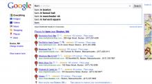 "Google Instant search for ""Bars in Boston."""