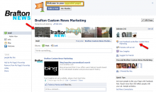Here's what Brafton's Facebook Page looks like with the new Page features.