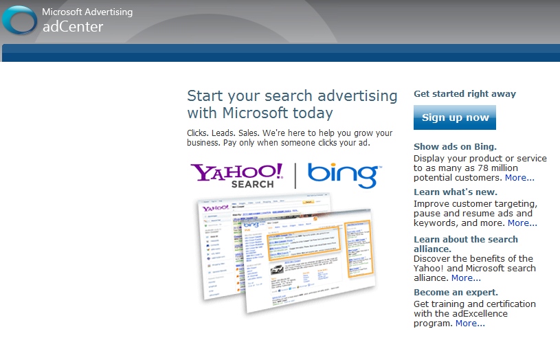 Show ads on Bing. Display your product or service to as many as 78 million potential customers.