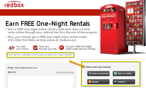 A social email marketing campaign is paying off for Redbox.