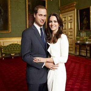 Prince William and his soon-to-be-wife, Kate Middleton