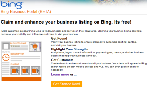 The Bing Business Portal could be good for local search marketers.
