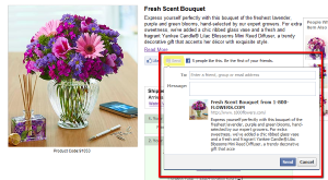 A new Facebook Send button lets users share content they find on the web with friends in related Groups.