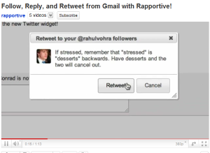 Social marketers might like the updated Rapportive - a social tool that lets Gmail users follow Tweets directly in their inboxes.