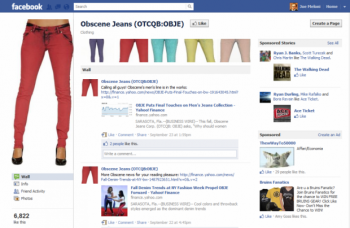 Obscene Jeans is just one of countless organizations banking on social media marketing to boost its popularity and reputation.