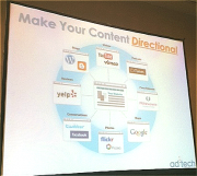 An ad:tech expert spoke about SEO for social content and making content directional.