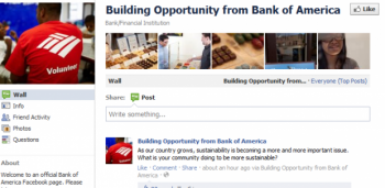 Bank of America has turned to social media marketing to generate positive conversation regarding the brand since the issues it experienced after announcing a $5 monthly debit fee, which has since been retracted.