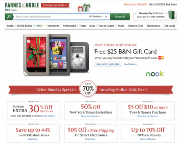 Barnes & Noble is just one of many businesses leveraging Cyber Monday's growing popularity among holiday shoppers.