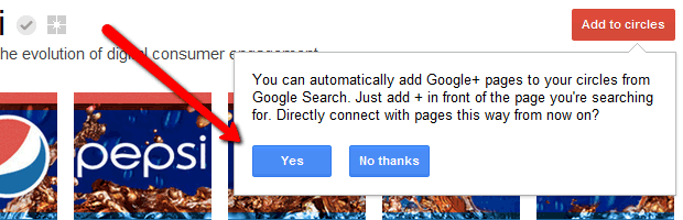 With the addition of Pages, Google+ users can add brands to their Circles automatically.
