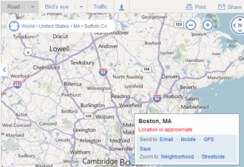 Bing announced on Wednesday that it has added social, email and text message sharing buttons to Maps to allow users to send them to friends and contacts easier.