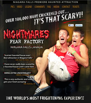 Nightmares Fear Factory saw its web traffic increase 100-fold thanks to a social media marketing campaign demonstrating that it provides the promised results for patrons.