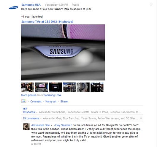 Samsung on Google+