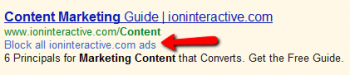 Google now allows users to block display ads that feature low-quality or irrelevant landing page content.