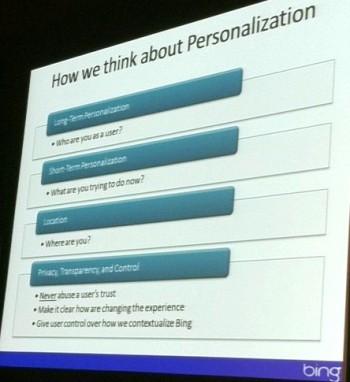 Bing Personalization