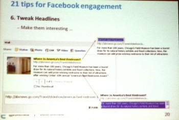 SES New York 2012 Facebook tips