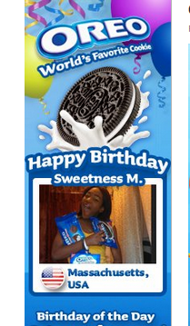 Oreo Facebook birthday