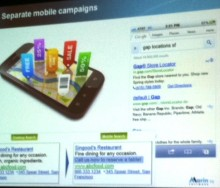 Separate mobile search campaigns