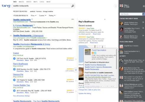 Bing unveiled a new SERP layout that includes different types of content three separate columns.