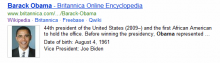 Brittanica Online Encyclopedia data now appears on Bing SERPs for relevant searches.