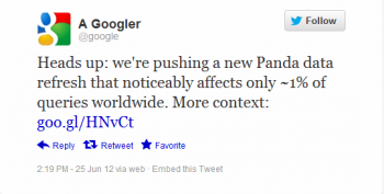 Google launched Panda 3.8 on Monday in another min