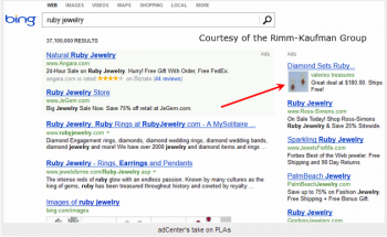 Bing is currently testing product placement listings on SERPs.
