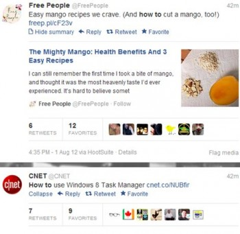How-To headlines engage users by demonstrating a company's knowledge through a social network.