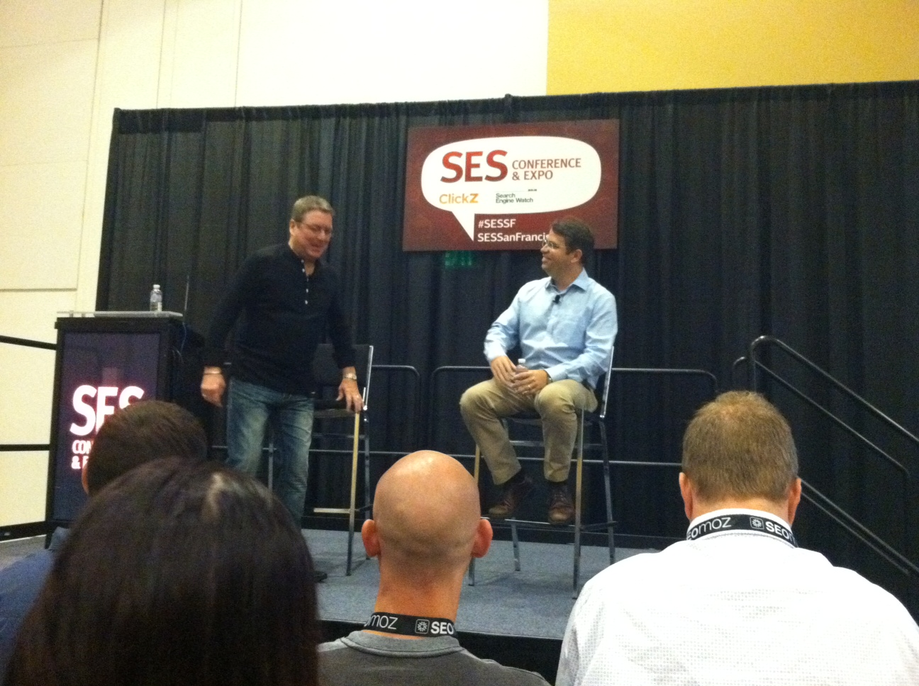 Matt Cutts prepares to give his keynote at SES San Francisco.