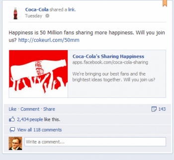 Coca-Cola has surpassed 50 million fans on Facebook, and other marketers can learn from the company's social strategies to inform their own campaigns.