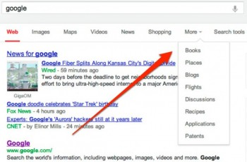 Google is currently testing the move of a menu typically on the left side of the change to the top of the SERP.