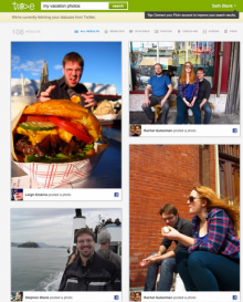 Trove users can search for content they or their friends posted to Facebook.