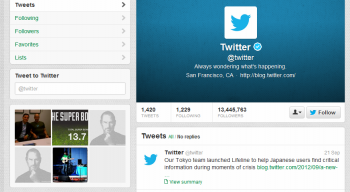 Twitter layout's received a redesign last week.