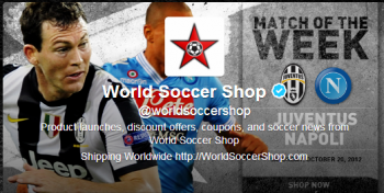 WorldSoccerShop.com takes advantage of the latest news in sports and the demand for social promotions with its innov