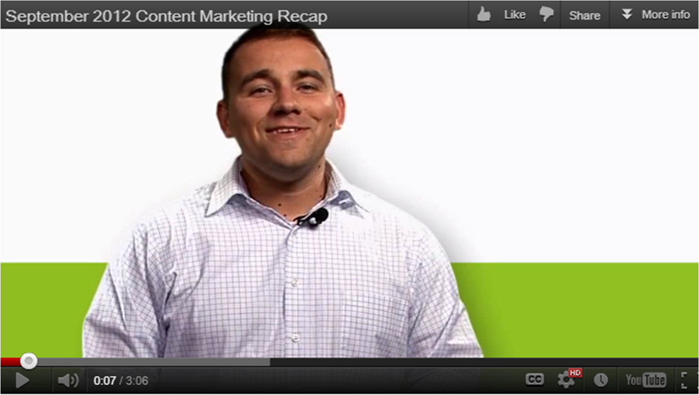 September 2012 Content marketing recap