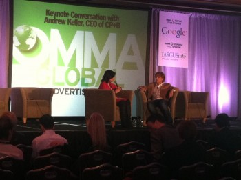 At OMMA, CP+B CEO Andrew Keller emphasized that good brand stories are what drive sales - no matter the network being used to reach audiences.