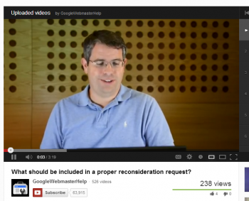 Matt Cutts explains how to get Google to reconsider websites