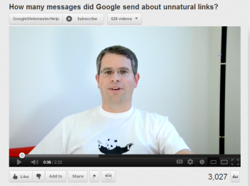 How many messages did Google send about unnatural links?