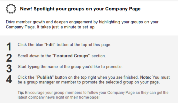 LinkedIn makes it easier for companies to promote and feature their Groups on their Pages for streamlined marketing efforts.