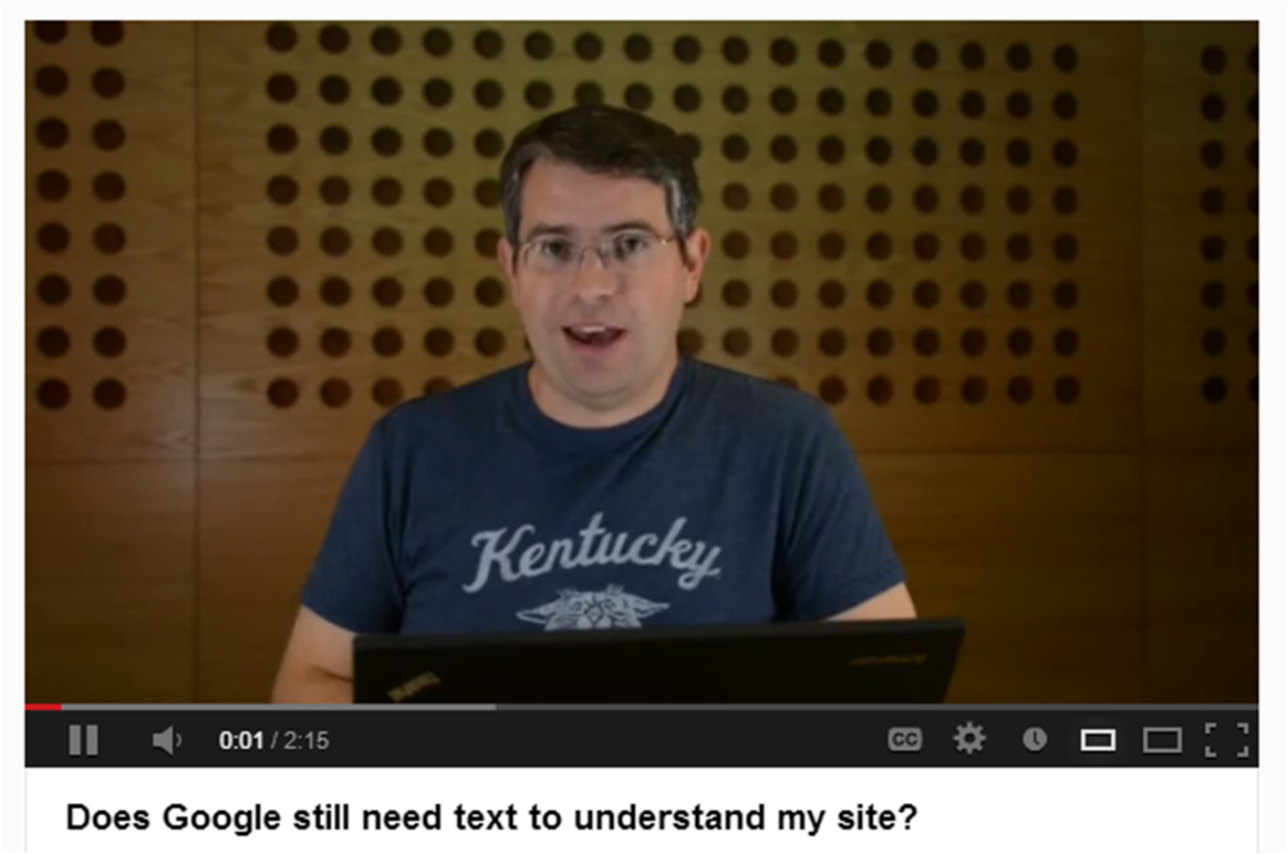 Matt Cutts answers Does Google need text