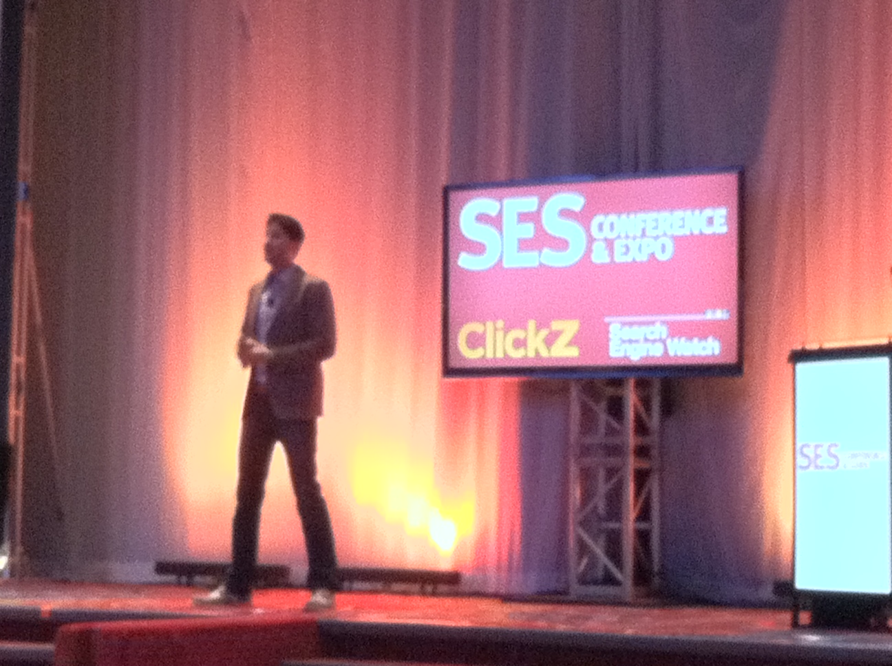 Hill Holliday's senior VP and director of social media Mike Proulx delivers a resounding keynote speech at SES NY.