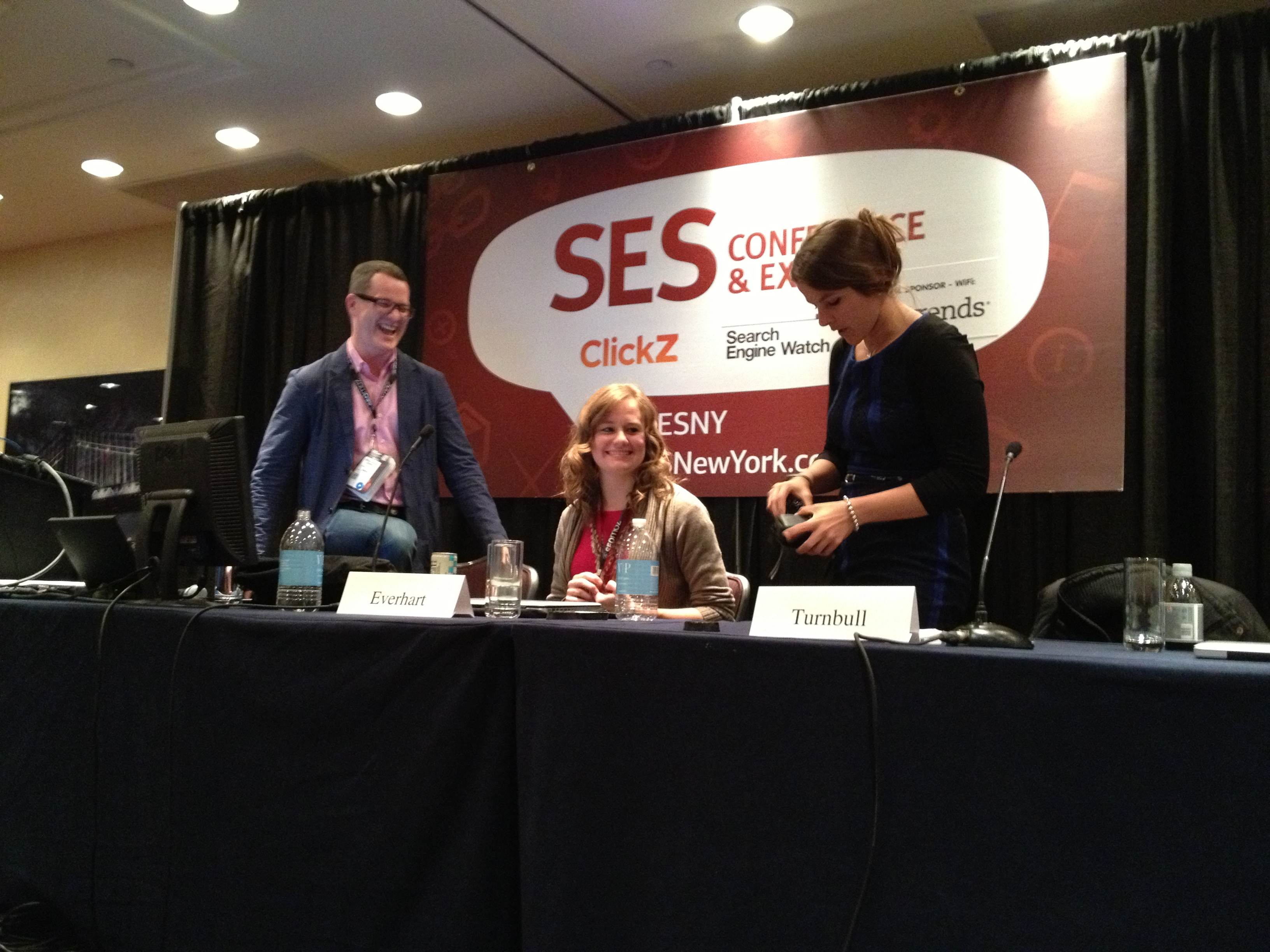 SES NY session with Everhart and SEO Jo Blogs