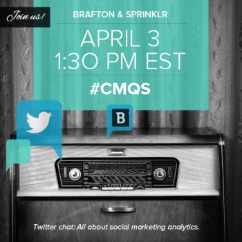 Brafton held its second LIVE Twitter chat with co-host Sprinklr about the value of social media marketing analytics. The goal of this month's discussion was to answer any question on […]