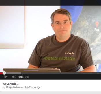 Matt Cutts says be careful when using advertorials.