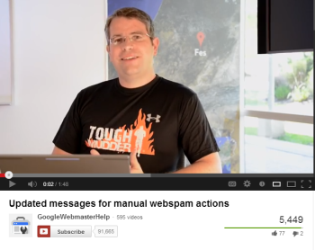 Matt Cutts says SEOs will now have more guidance when they receive messages about manual webspam actions.