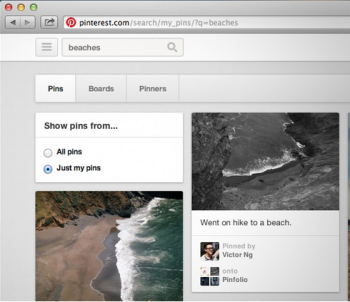 Pinterest search features make social media content organization and discovery easy.
