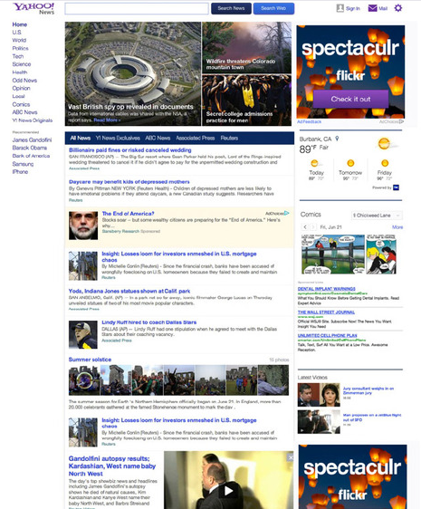 Yahoo News has a new look and feel, which could bring web traffic back to the search engine.