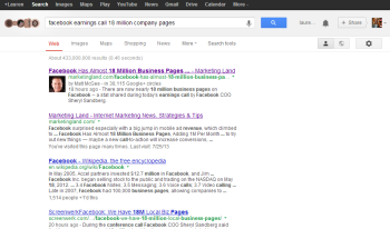 Google SERPs with extra information.
