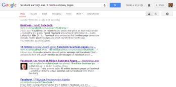 Google SERPs with information pulled from G+ and search history.