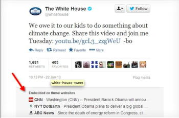 Marketers might benefit from more web visibility from links embedded in Tweets.