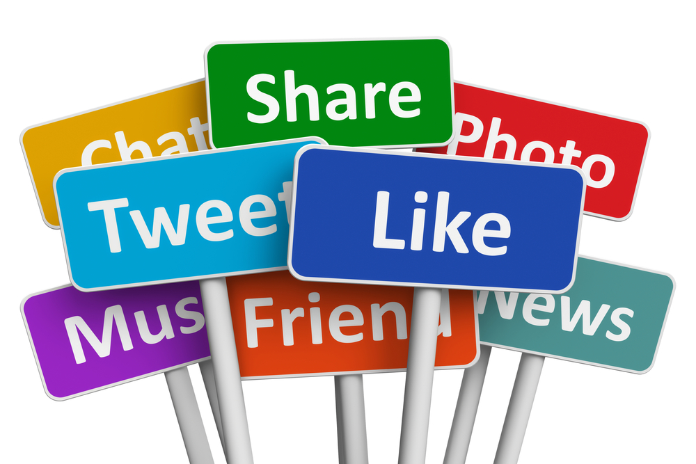 Social sharing buttons encourage target audiences to distribute content on their own.